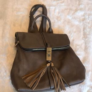 Handbags - Taupe backpack leather